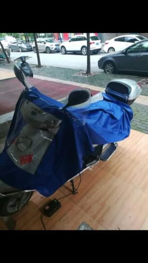 正招(kendo)户外骑行成人电动电瓶摩托车雨衣男女式单人雨披加大加厚 P1H天蓝4XL 晒单图