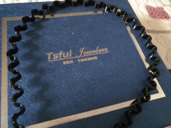 tsful 男女通用发箍发夹头箍压发发饰头饰合金波浪发卡发夹 清逸-雅黑 晒单图