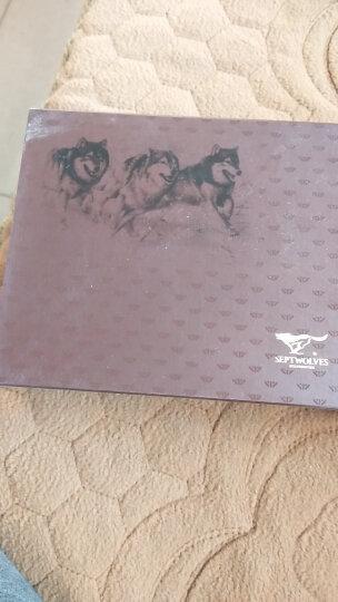 七匹狼 (SEPTWOLVES) 男士钱包短款 商务休闲两折竖款牛皮夹多功能卡包 3A1313112-01黑色 晒单图