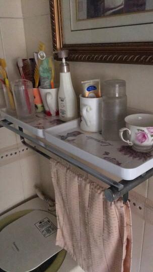 新运隆 欧式塑料长方形托盘杯子茶盘家用客厅水果盘糖果盘 玉兰浅韵大号 晒单图