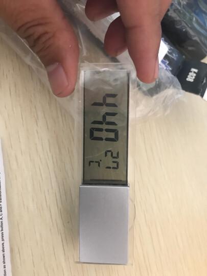 透明吸盘式电子表汽车液晶时钟表车载车内温度温度表汽车用数字电子钟迷你便携式时间装饰新车新款汽车用品 透明(电子钟+温度)二合一 晒单图