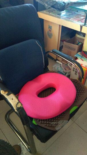 教师节礼物办公室坐垫痔疮垫美臀垫透气舒适男女款记忆棉 公室电脑椅凳子坐垫加厚椅送长辈父母 女士-玫红 晒单图