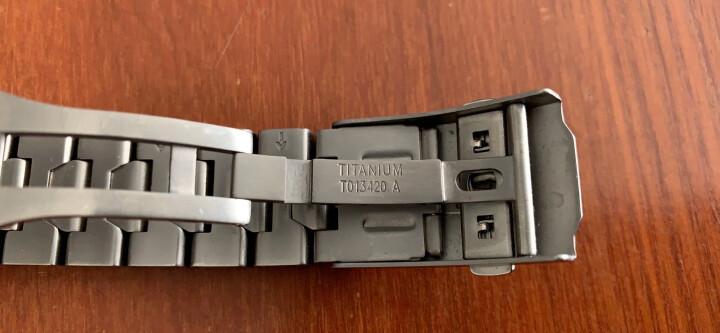 适配天梭T013钛合金原装钢表带T047420 T013420手表带腾智系列定制款 晒单图