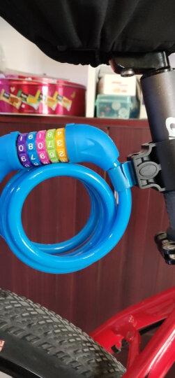 洛克兄弟(ROCKBROS)自行车锁防盗锁5位密码锁 山地车锁死飞钢丝锁自行车配件装备 发光锁-黑色(1.2米) 晒单图
