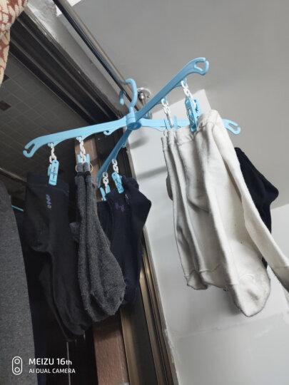家杰 衣架可旋转带夹子晾晒架 塑料防风衣架 2只装 JJ-LS013 晒单图