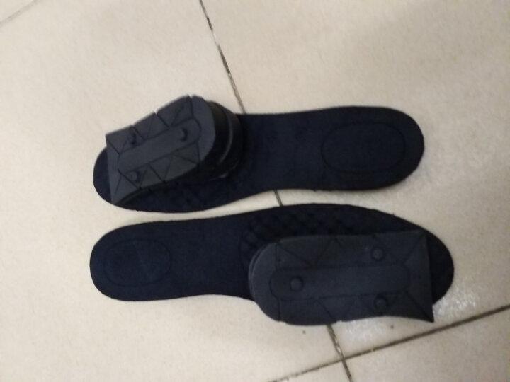 狄夫人 隐形内增高鞋垫可拆卸三层增高9cm气垫运动透气全垫男式女士 黑色四层 可裁剪码数 晒单图