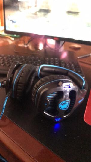 赛德斯(Sades)SA903 电竞头戴式游戏耳机(黑蓝)绝地求生电脑耳机耳麦7.1声道 自带声卡吃鸡利器 晒单图