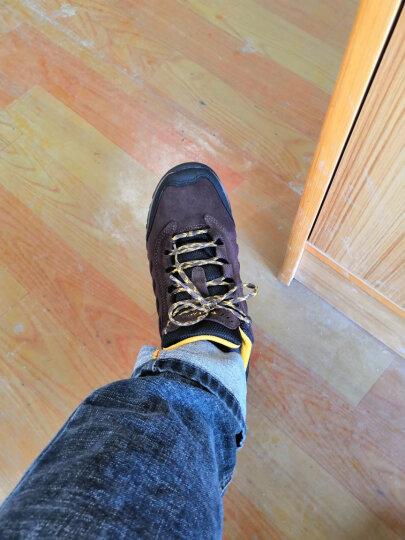 探路者登山鞋男19秋冬新品户外徒步鞋橡胶大底防滑耐磨登山鞋TFAH91070 黑色银色-男 42码 晒单图
