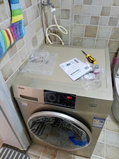 海尔洗烘一体10公斤全自动滚筒洗衣机变频蒸汽烘干大容量XQG100-HB816G 晒单图