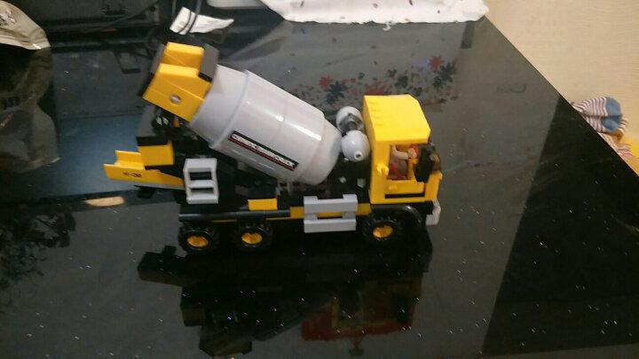 兼容乐高小鲁班拼装积木城市工程系列铲车吊车挖掘机工人模型组装汽车男孩子玩具6-8-10岁拼图我的世界 8042  推土机【117PCS】 晒单图