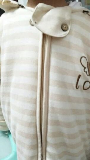 乔比熊(CHOUPI BEAR) 婴儿睡袋宝宝分腿儿童纯棉防踢被秋冬加厚成长型信封彩棉睡袋 夏季双层纱布-蓝色波点(背心款) 80cm衣长(略有缩水 适合1-4岁) 晒单图