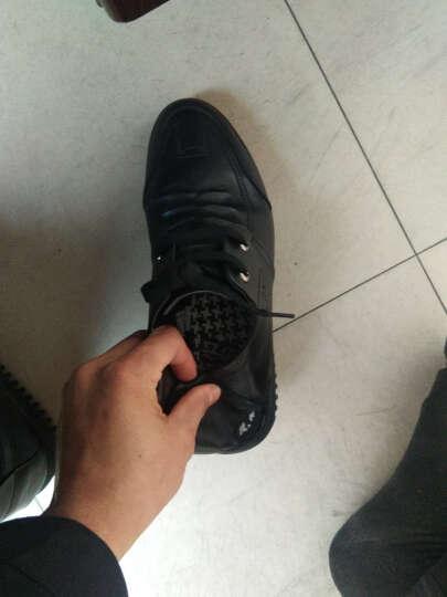 瑞蓓妮真皮男鞋子夏季新款男士皮鞋透气镂空皮鞋中老年爸爸鞋防滑凉皮鞋 81695蓝色 39 晒单图