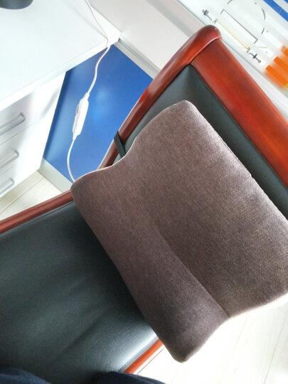 昕科护腰靠垫办公室腰枕座椅靠垫靠枕记忆棉孕妇电热靠背 加热腰靠咖色 晒单图