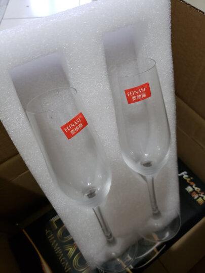 费纳斯(FEiNASi)无铅水晶玻璃香槟杯高脚杯起泡酒杯红酒杯 200ml香槟杯-两支 透明 晒单图