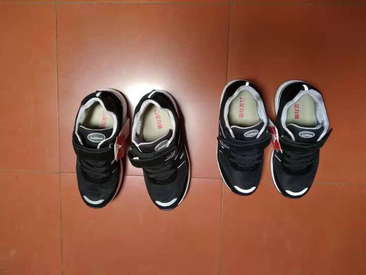 足力健老人鞋中老年休闲运动健康鞋爸爸秋季健步鞋男 黑色(女款) 38 晒单图