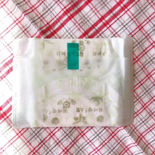 """贵艾朗(曾用名""""闺艾朗"""")中草药艾草系列卫生巾日用棉柔卫生巾小号21cm 18片(韩国原装进口) 晒单图"""