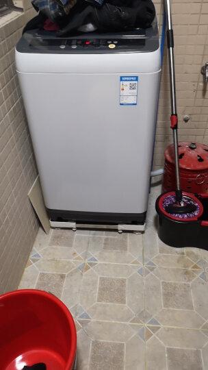 嘉沛 WA-312S 移动洗衣机底座 托架 洗衣机架 支架 架子 冰箱底座 (4双轮) 白色 晒单图