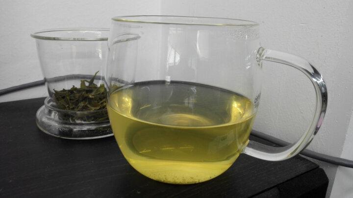 品茶忆友 玻璃茶具 茶杯耐热玻璃杯水杯茶漏茶滤三件杯 p-05凝露杯 450ml 晒单图