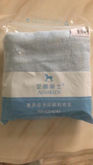 艾娜骑士 婴儿浴巾竹纤维新生儿大浴巾宝宝竹纤维澡巾 浅蓝70*140 晒单图