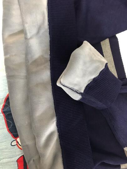 鑫源祥  新款毛衣男士加厚拼接衬衫领保暖针织衫衣服套头开衫V领假两件加绒条纹 AK8059 4XL 晒单图