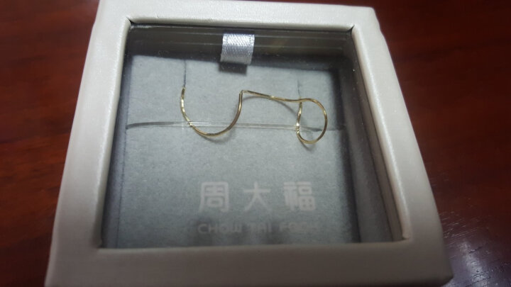 周大福 精致蛇骨链 18K金项链 E77 40cm 1380元 晒单图