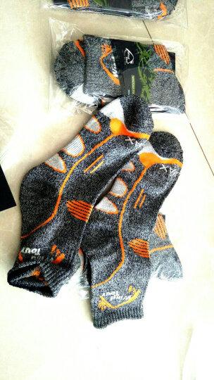 威迪瑞男女款户外运动快干袜速干袜子 加厚保暖跑步徒步骑行袜登山袜 深灰色/3双装 晒单图