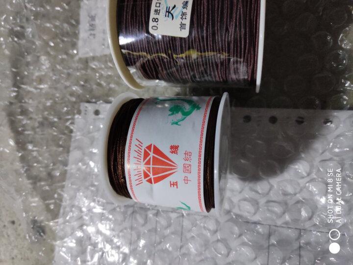 绿侬  包芯弹力线0.6 0.8 1.0mm佛珠线手串绳DIY手链饰品松紧线 玫红色直径0.8mm/长70米 晒单图