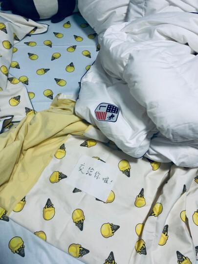 LOVO罗莱生活出品 水洗棉纯棉四件套 AB版双面使用床上用品套件 甜蜜冰激凌220*240cm 晒单图