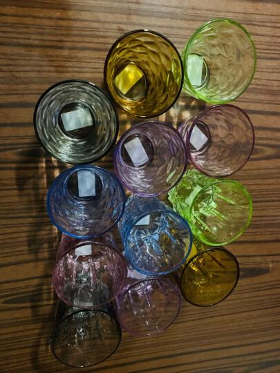 克芮思托 NC-8549玻璃杯果汁杯饮料杯茶杯中号宜彩珠点水杯300毫升六只装套装 晒单图