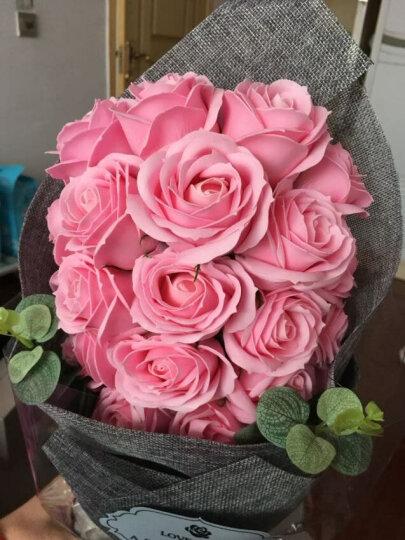 I'M HUA HUA21朵粉色玫瑰花香皂花生日花束礼盒装鲜花同城速递花束纪念日母亲节康乃馨鲜花礼物送女友送女生 晒单图