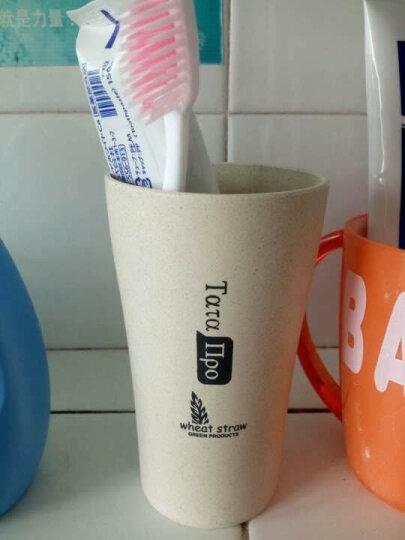 诺兰森迪 NOLANSEND 麦秸杆漱口杯水杯旅行儿童刷牙杯情侣洗漱杯 牙刷杯 NL5527卡其色大号360ml(2件起售) 晒单图
