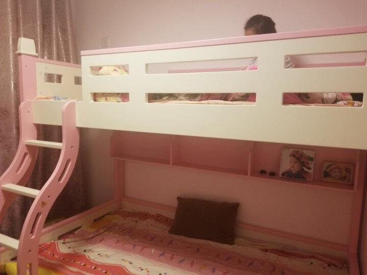 七彩元素 儿童床上下床双层床女孩高低床子母床实木架公主上下铺806A 高低床+M04上下棕垫 1500*1900无货 晒单图