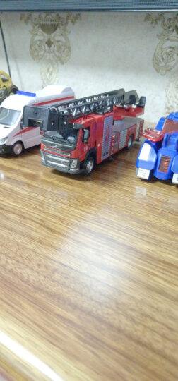 彩珀工程车模型合金消防车翻斗车沃尔沃搅拌玩具车仿真垃圾车大卡车儿童玩具男孩 混凝土搅拌车-白色 晒单图