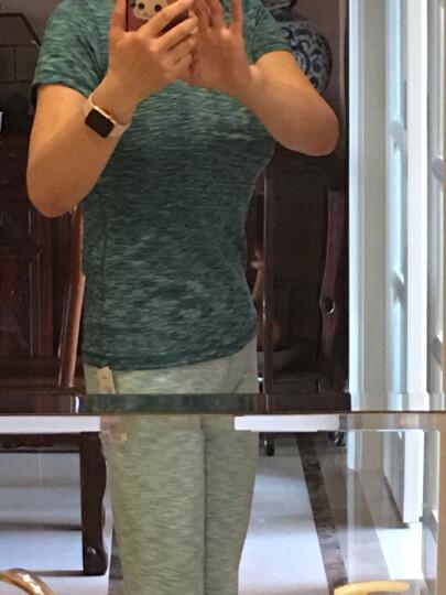 依琦莲瑜伽裤女健身速干紧身裤弹力运动服跑步裤女网纱透气修身显瘦健身房 16116黑色七分网纱裤 M 晒单图