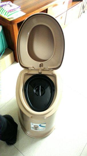 顺嘉利防滑移动马桶坐便器便携式孕妇老人塑料马桶坐便椅 缓降防滑四代驼色房间+厕所两用 晒单图