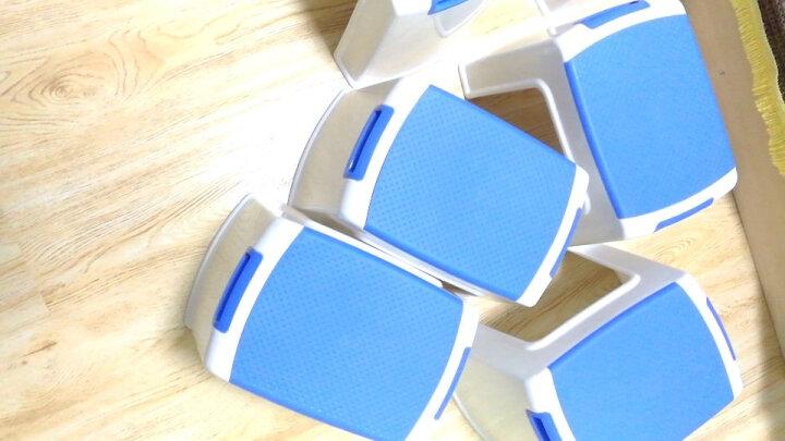 好尔(Hore)凳子 板凳 小凳子 塑料凳子带提手中号蓝色 1个装 晒单图