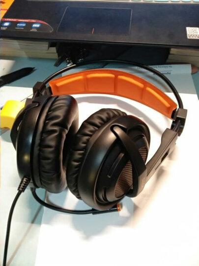 赛德斯 SADES/A55电脑游戏耳机 头戴式震动发光台式笔记本电竞游戏耳麦带麦克风话筒CF吃鸡耳机 黑橙色单孔版 晒单图