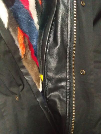 牧菲 派克服大衣女中长款皮草外套貉子毛大毛领水貂皮内胆 长款素拼 XL 晒单图