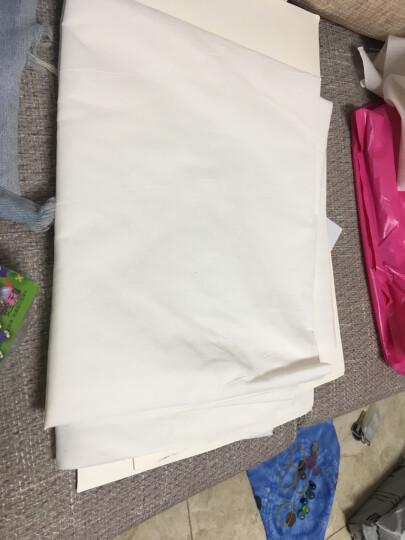 喜淘淘白坯布涤棉纯棉布料画布服装扎染白布设计立裁面料白胚布 1.1米宽中厚涤棉 晒单图