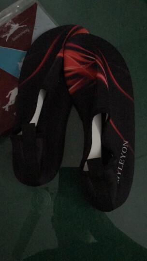 班哲尼浮潜鞋潜水装备浮潜三宝沙滩鞋游男女赤足贴肤软鞋防滑涉水用品莱卡弹性面火焰红M码适合36-37 晒单图