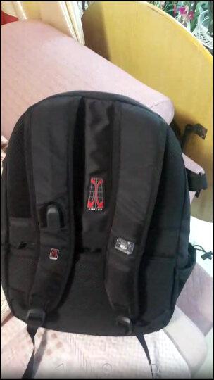 CROSSGEAR 电脑包 15.6英寸双肩背包大学生书包 男商务笔记本电脑包 旅行包 CR-1590 黑色 晒单图