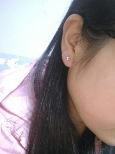 Molady沫兰 925银五角星耳钉女款 秀气镂空星星简约文艺气质女士耳环耳饰品送礼佳品 晒单图