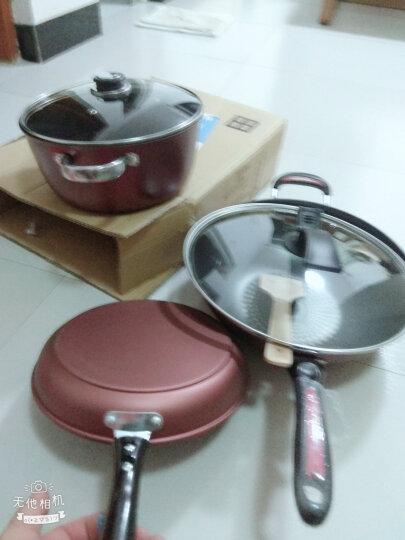 比嵩(Bi Song) 钻石系列不粘炒锅煎锅汤锅三件套厨具燃气电磁炉通用 锅具套装 晒单图