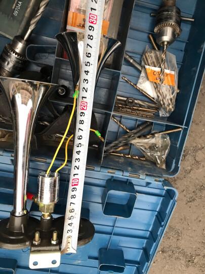 汽车电气喇叭12v响改装货车喇叭24v轮船喇叭火车汽笛气泵 24V气喇叭+气管+翘板开关 晒单图