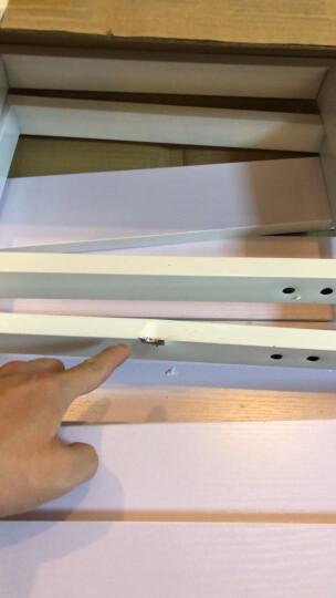 鹿梵  简易书架落地书柜置物架储物架多层货架展示架收纳架定做 黑架白板 三层长80*宽30*高108 晒单图