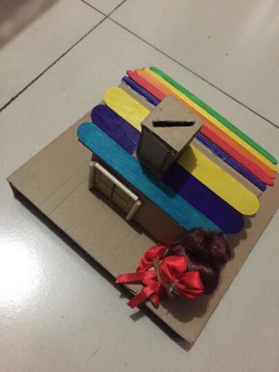 彩色雪糕棒锯齿棒冰棍木条雪条棒冰棒棍冰淇淋棒DIY手工材料雪糕棒手工制作材料冰棍 原木棍50根 长14.9*直径0.45cm 晒单图