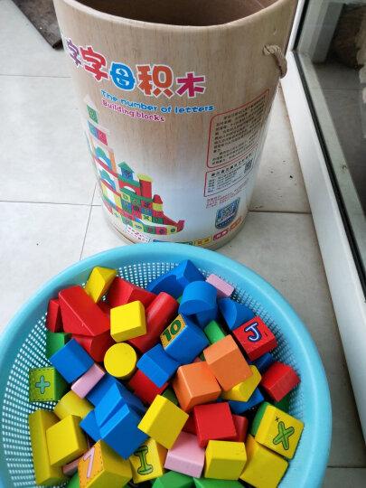 采石儿童木制积木玩具 木质木头拼插拼装大块颗粒168粒带数字字母 婴儿幼儿宝宝启蒙 100粒数字字母 晒单图