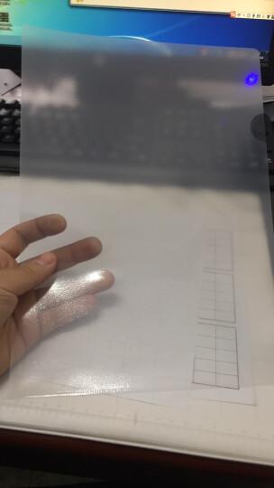 得力(deli)100只A4透明文件套单片夹 加厚两页式文件夹 5700 晒单图