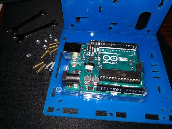 创乐博 机器人套件 arduino履带小车底盘 循迹 避障遥控WIIF智能小车 C套餐蓝牙+wifi 含意大利UNO板 晒单图