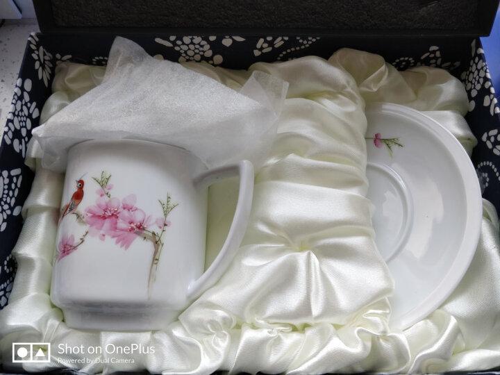 红叶 茶杯景德镇陶瓷带盖办公室泡茶水杯马克杯子 水点桃花 晒单图